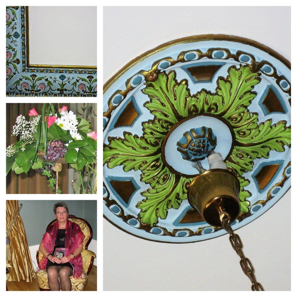 En langweekend på Thorskogs Slott i Sverige gjør inntrykk - kollasj av detaljer fra interiøret
