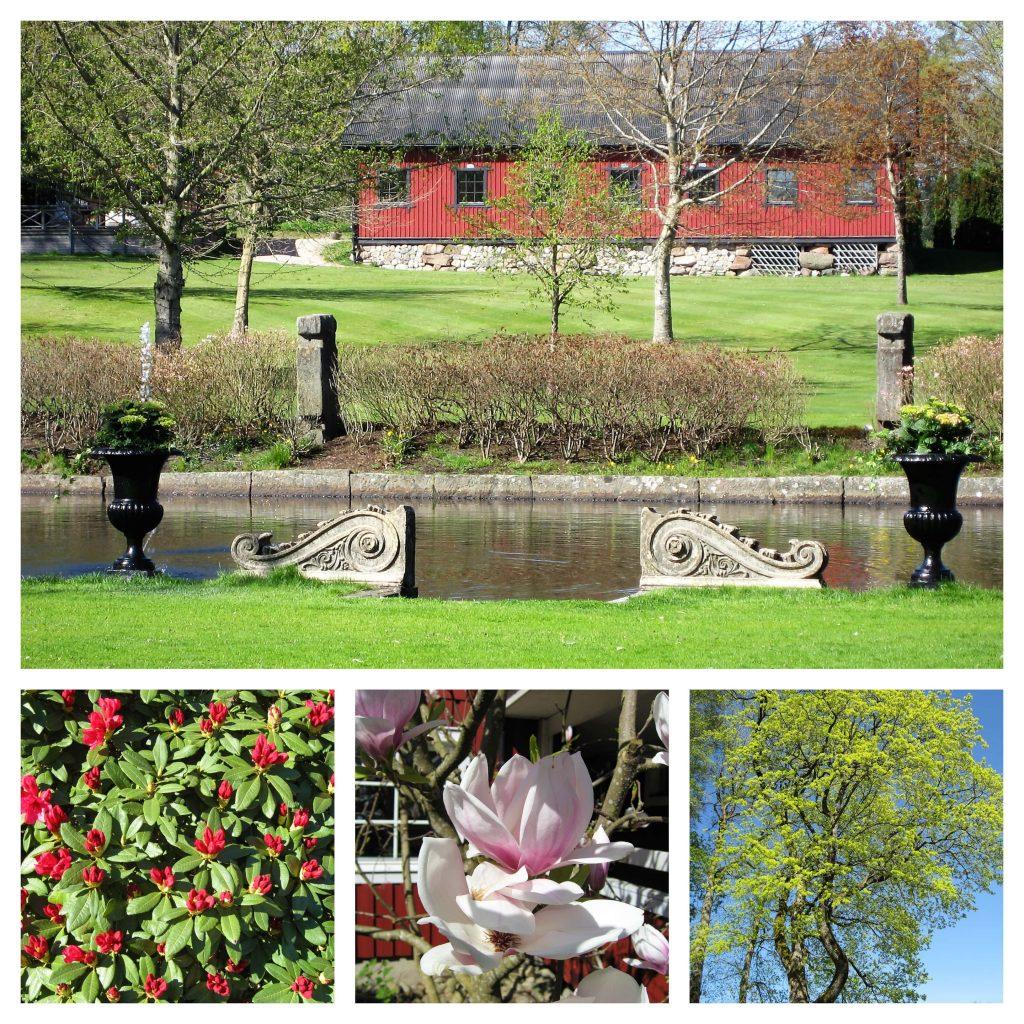 En langweekend på Thorskogs Slott i Sverige gjør inntrykk - kollasj av parkanlegget