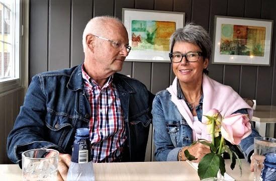 Tor og meg på Skipperstua i Drøbak