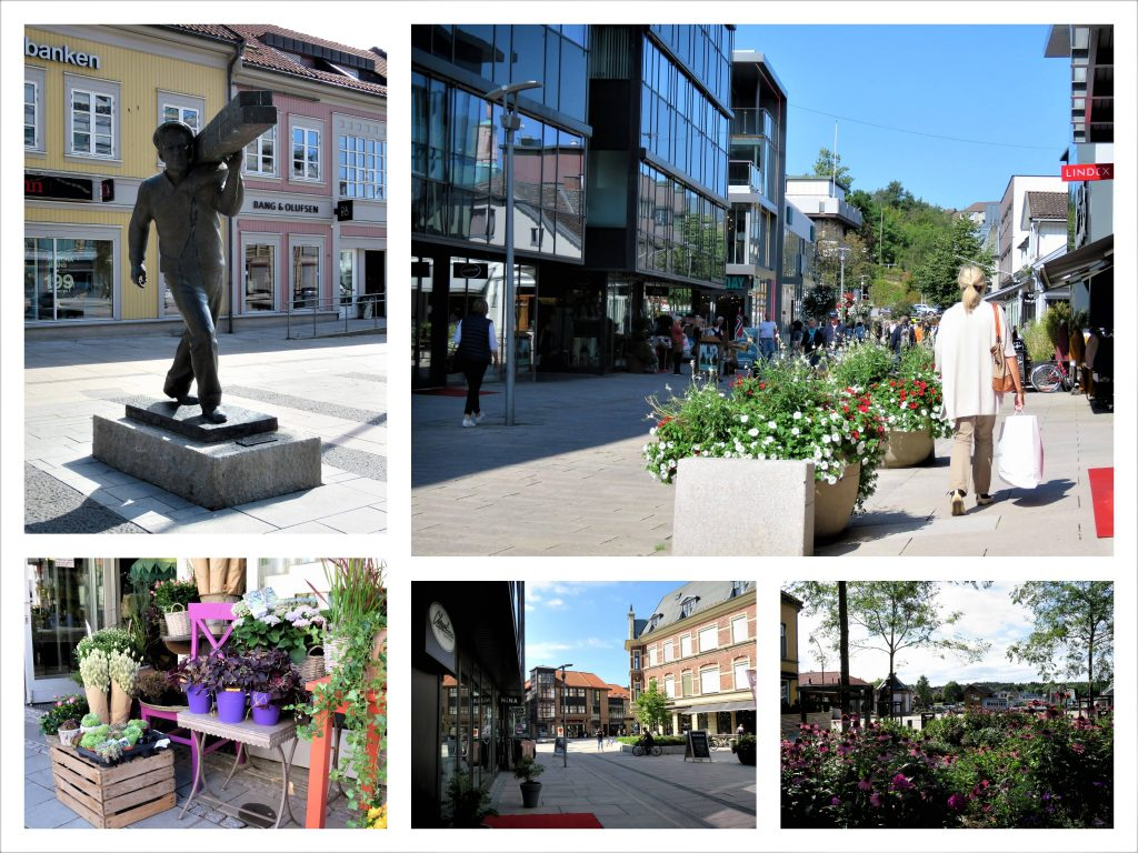 Kollasj fra sentrum av Fredrikstad