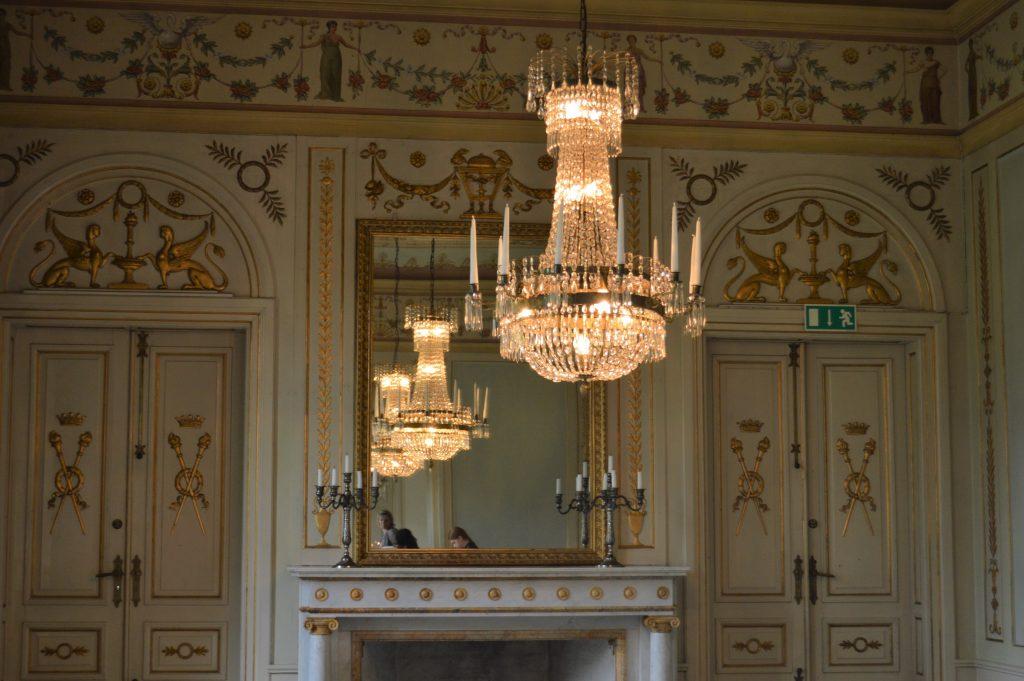 Detalj fra en spisesal på Kronovall Slott, Østerlen i Skåne