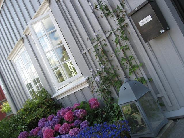 Detalj fra et gammelt hus i Drøbak