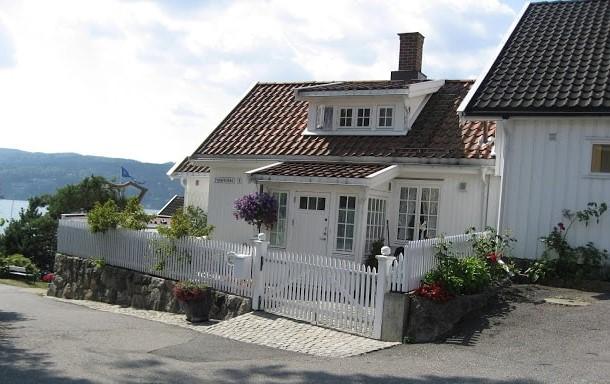 Et rehabilert hus i Fiskerkroken i Drøbak