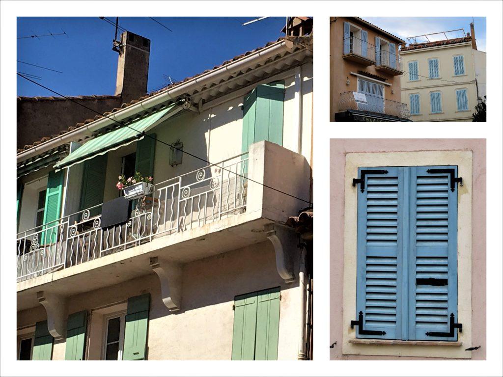Mitt første møte med Sainte Maxime på den franske riviera - Kollasj av boliger i Sainte Maxime
