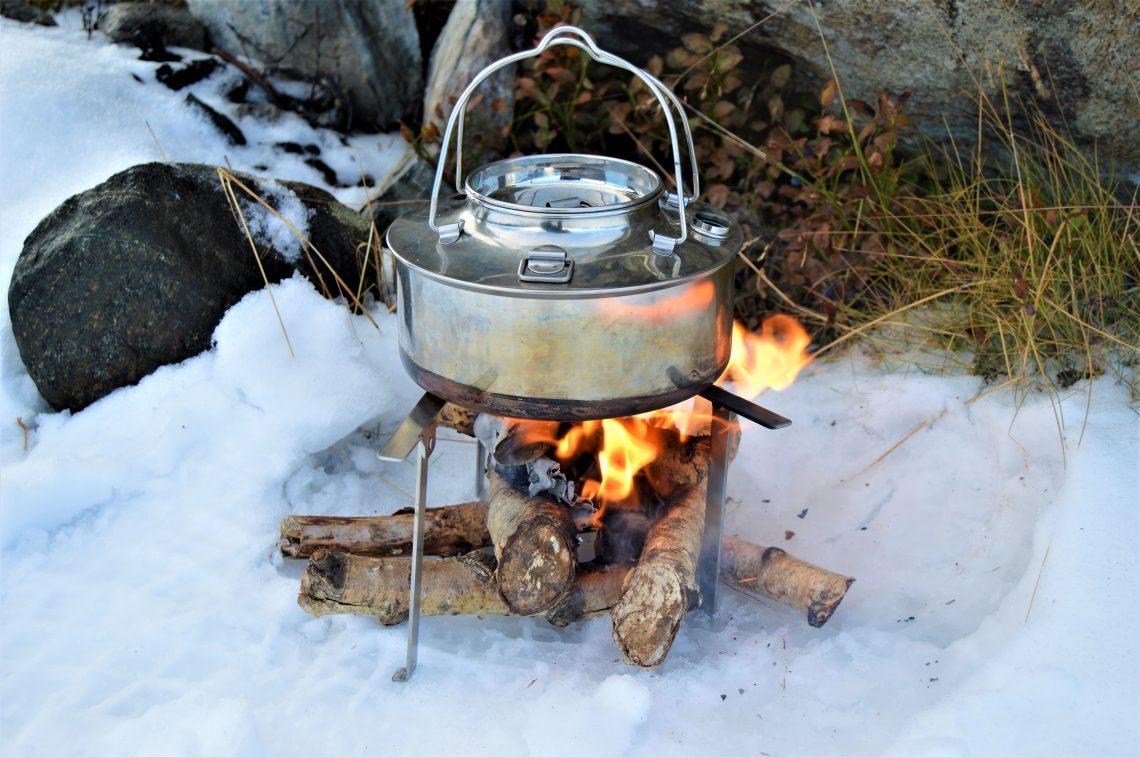 På fjelltur er kaffekjele på bål en ekstra boost til å gå videre, Beitostølen