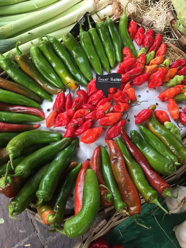Flere typer chilli