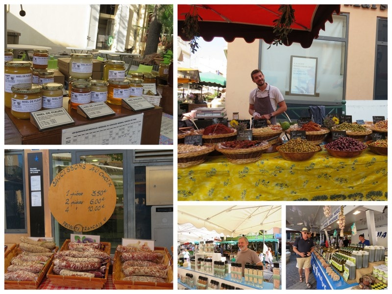 Jeg er på matmarked i Sainte Maxime  - kan du kjenne duften? Oliven, spekemat og krydder
