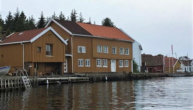 Det gamle gjestgiveriet på Svinør, hvor vi (Gina Maries oldebarn) bodde en helg på Svinør