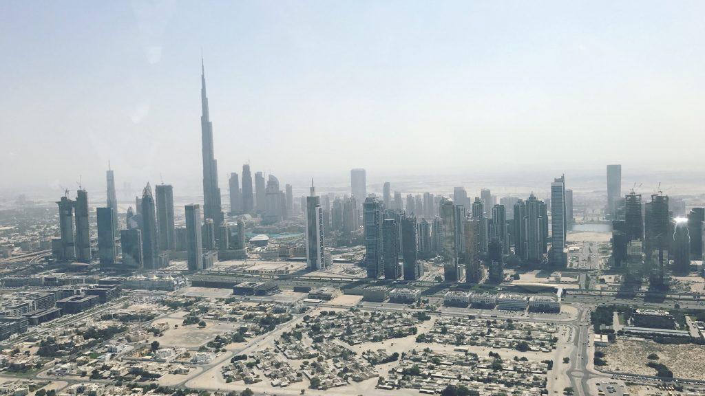 Perspektivbilde over Dubai