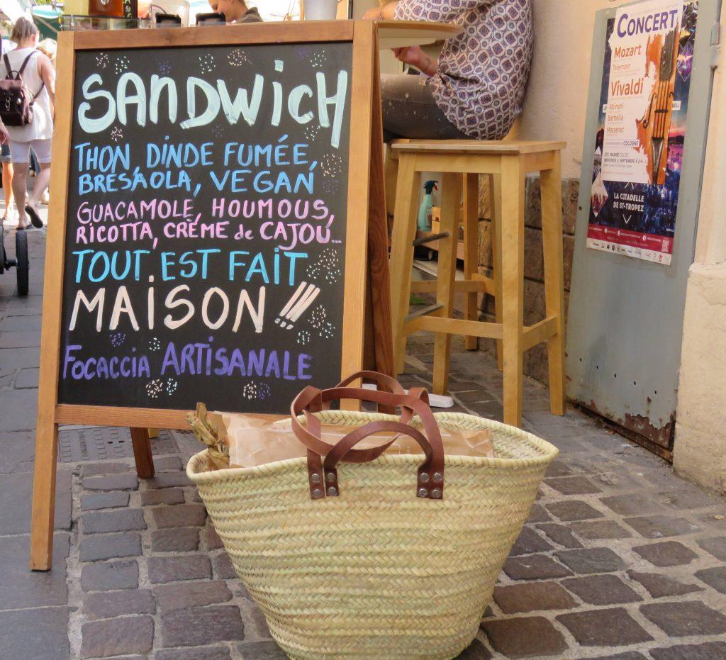 Stilleben fra matmarked i Sainte-Maxime