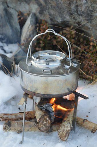 Kakao varmes på bålet
