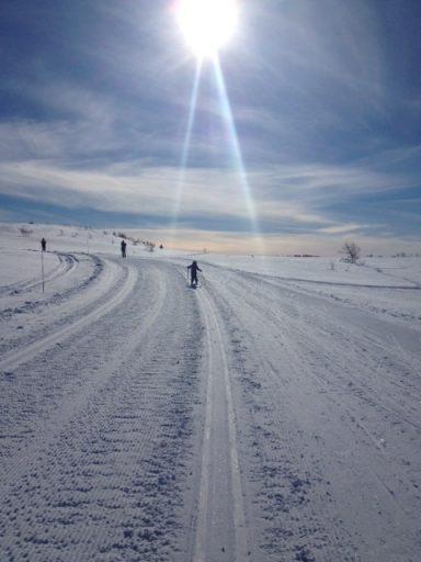 Skitur en solfylt dag på Garli