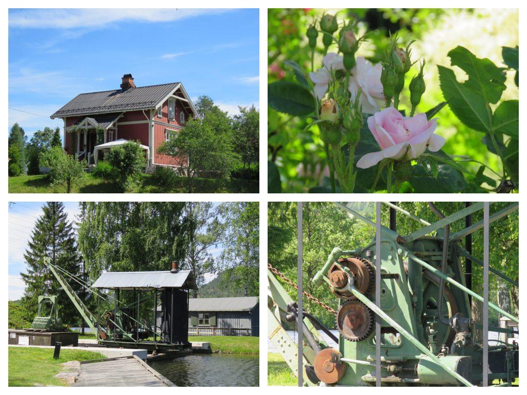 Detaljer fra ankomststedet Lunde.