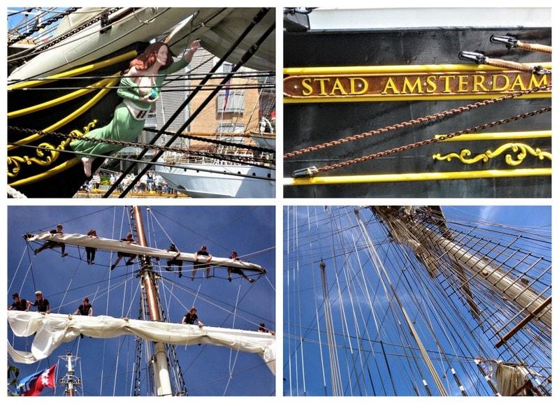 Kollasj av båtdetaljer - Tall ships racees