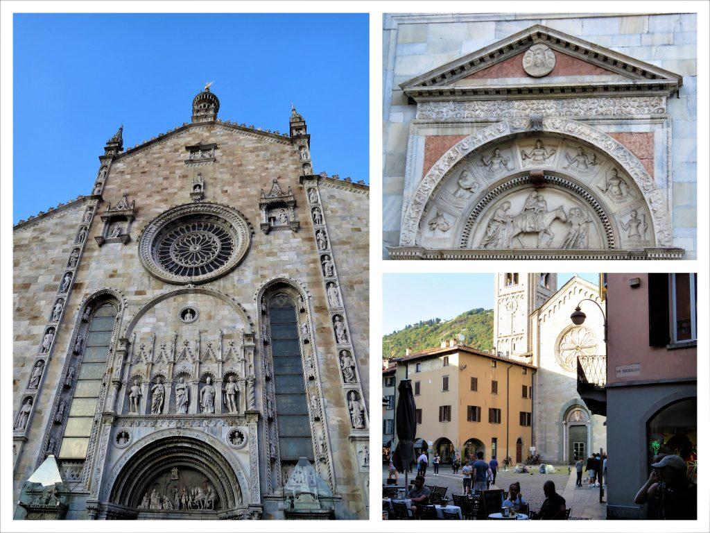Kollasj fra Katedralområdet i Como