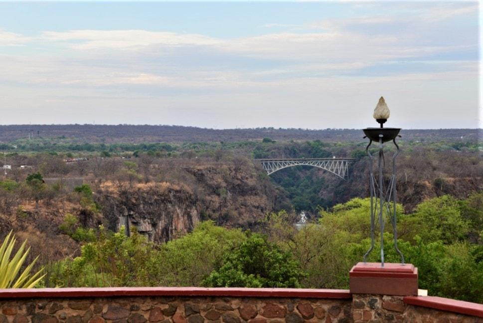 Utsikt fra Victoria Falls Hotel