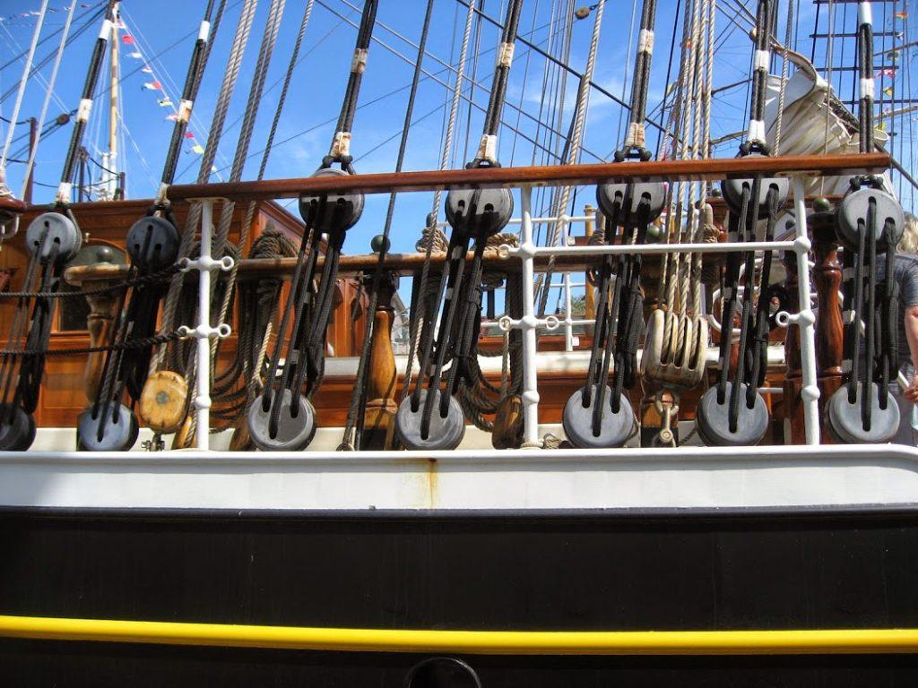 Detaljfoto fra et skip - Tall ships races