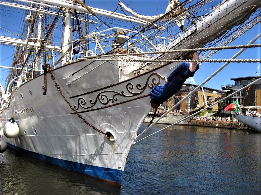 Gallionsfigur på et skip - Tall ships races