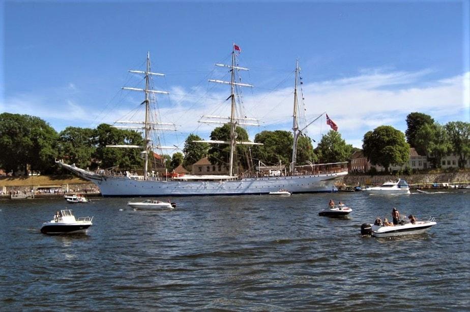 Christian Radich til kai i Gamlebyen, Fredrikstad - Tall ships races