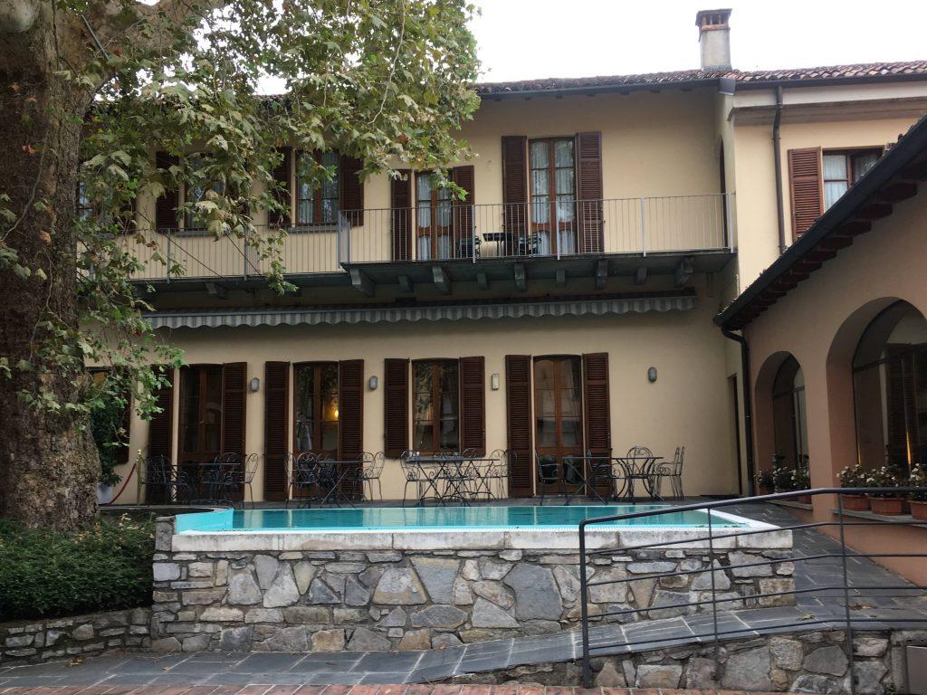 Hotellet vi bodde på i Como