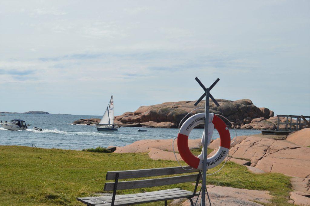 Herlig sjøutsikt fra kystleden, Strandflickorna, Lysekil