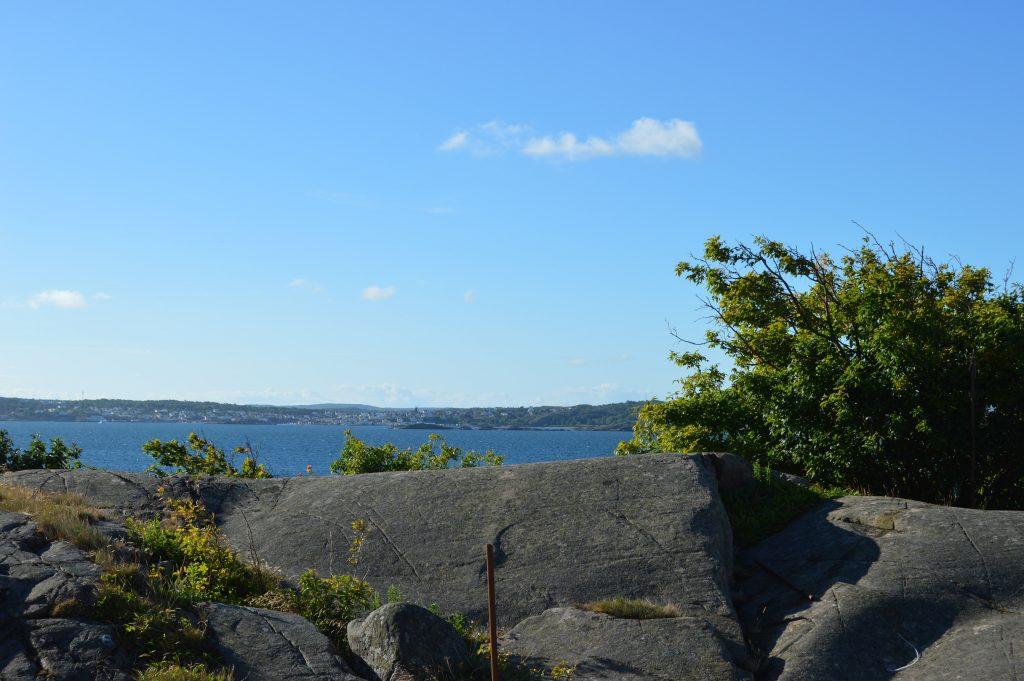 Utsikt fra hotellrommet på Strandflickorna, Lysekil
