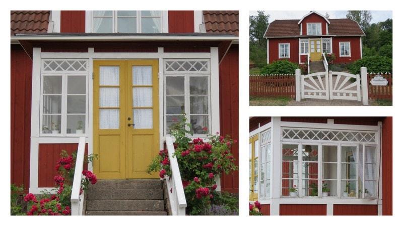 Kollasj av det koselige huset til Emil i Lønneberget, Katthult
