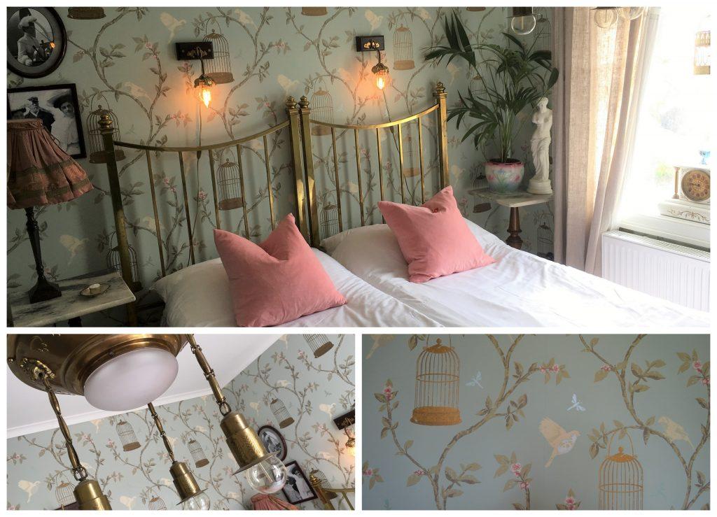 Kollasj fra et av de romantiske soverommene hos Strandflickorna, Lysekil.