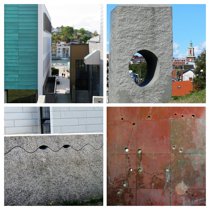 På kunstsafari i Fredrikstad - en lokal reise - kollasj av flere kunstverk