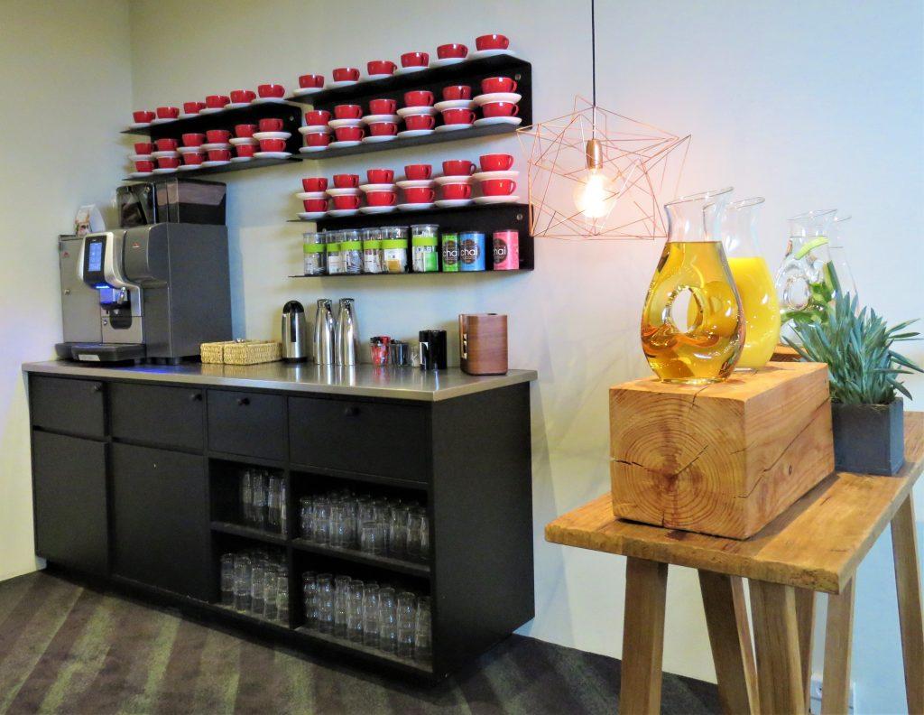 Kaffestasjon på Køge Comwell Hotell