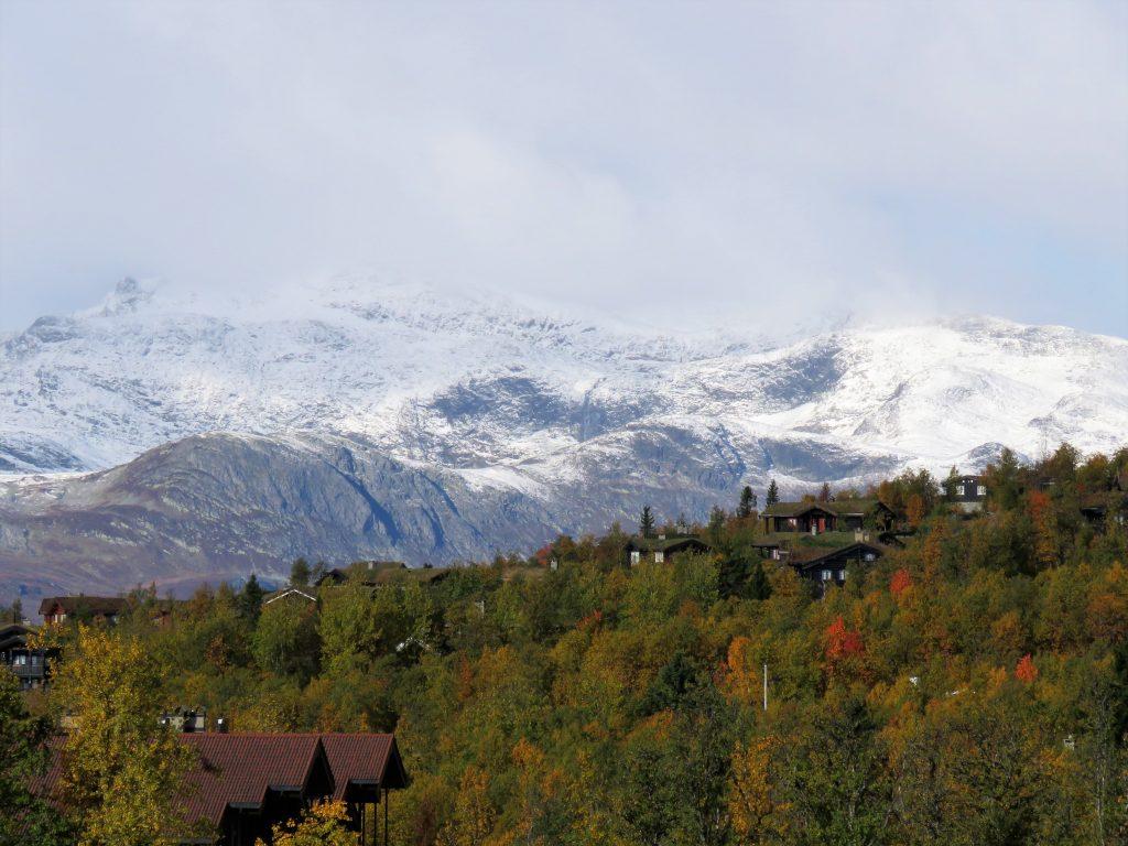 Beitostølen - høsttur i fjellet. Vi har fin utsikt mot fjell og farger fra leiligheten