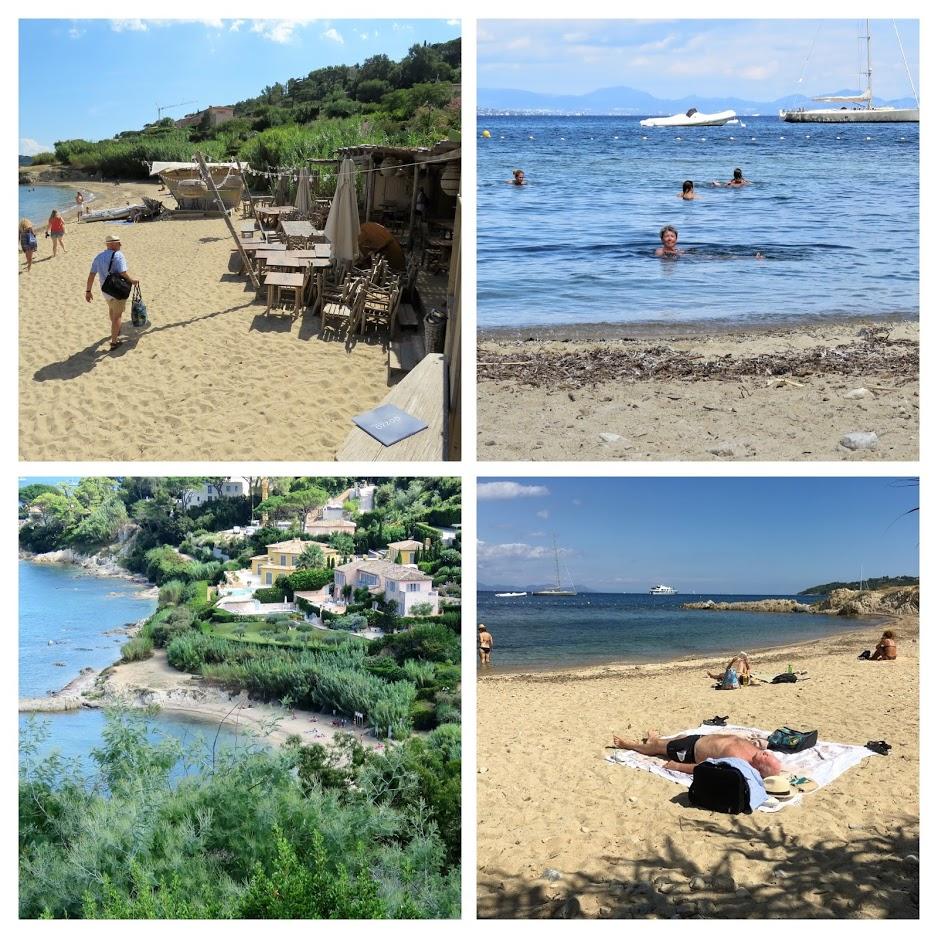 Jeg ville se bak den kontrastfylte fasaden på St.Tropez, kollas jover den vakre stranden plage des graniers