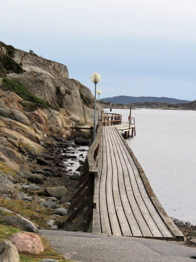 Grebbestad - jomfruturen med bobilen vår Hjalmar - Strandkanten
