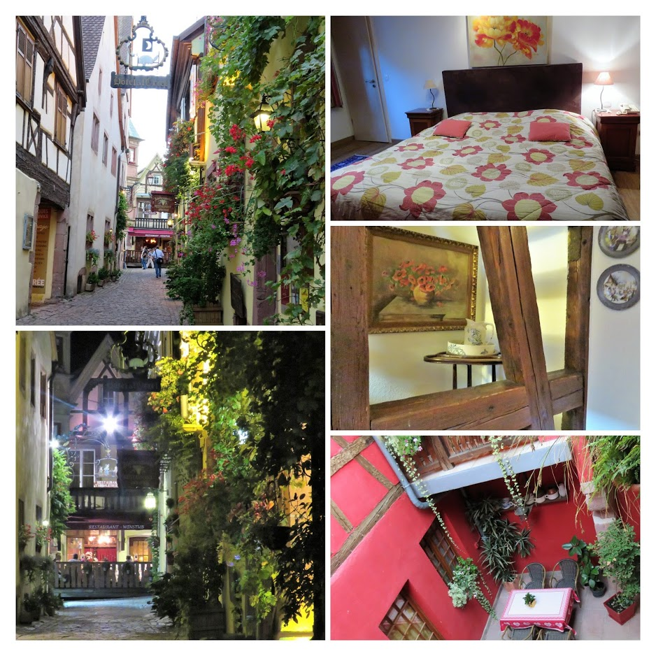 Riquewihr - Hotel a l'Oriel hvor vi overnattet - urbantoglandlig