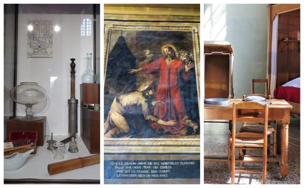 Beaune i Burgund, Hôtel Dieu. Kollasj fra Hôtel-Dieu. Urbantoglandlig