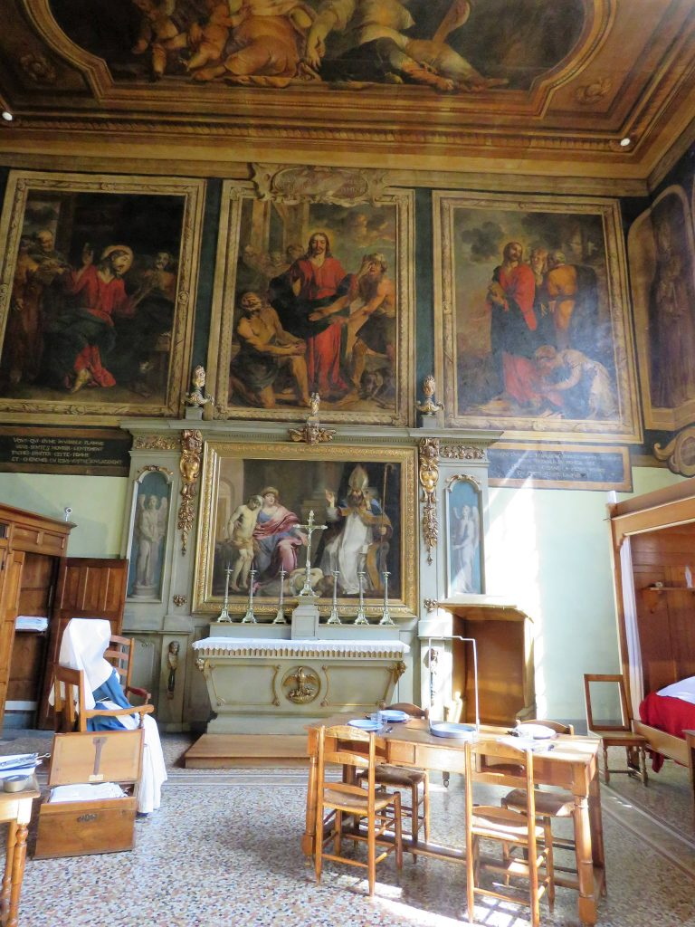 Beaune i Burgund, Hôtel Dieu. Malerier. urbantoglandlig