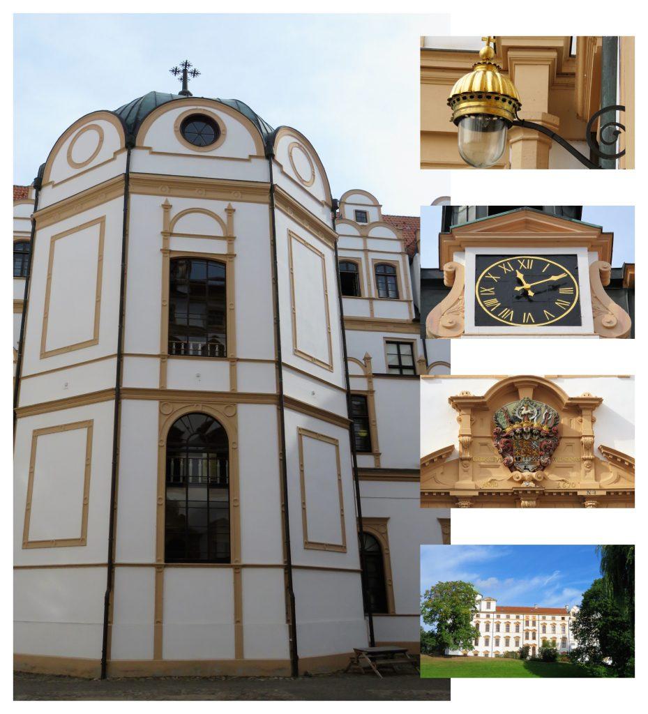 Er Celle i Tyskland et eventyr. Kollasj av slottet i Celle