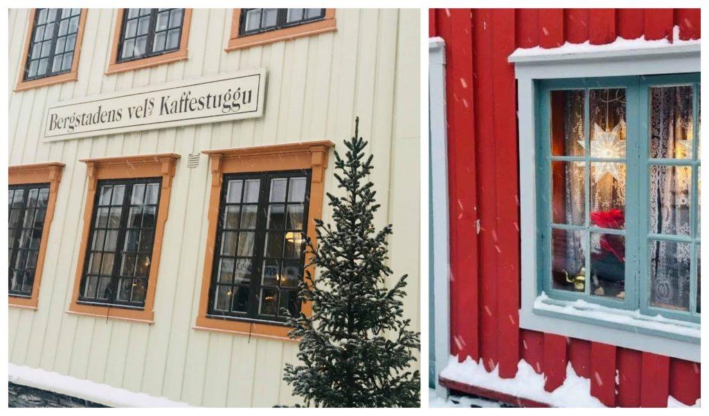 Reisen til Røros - en juledrøm blir virkelig - Kaffestuggus fasade og fra baksiden