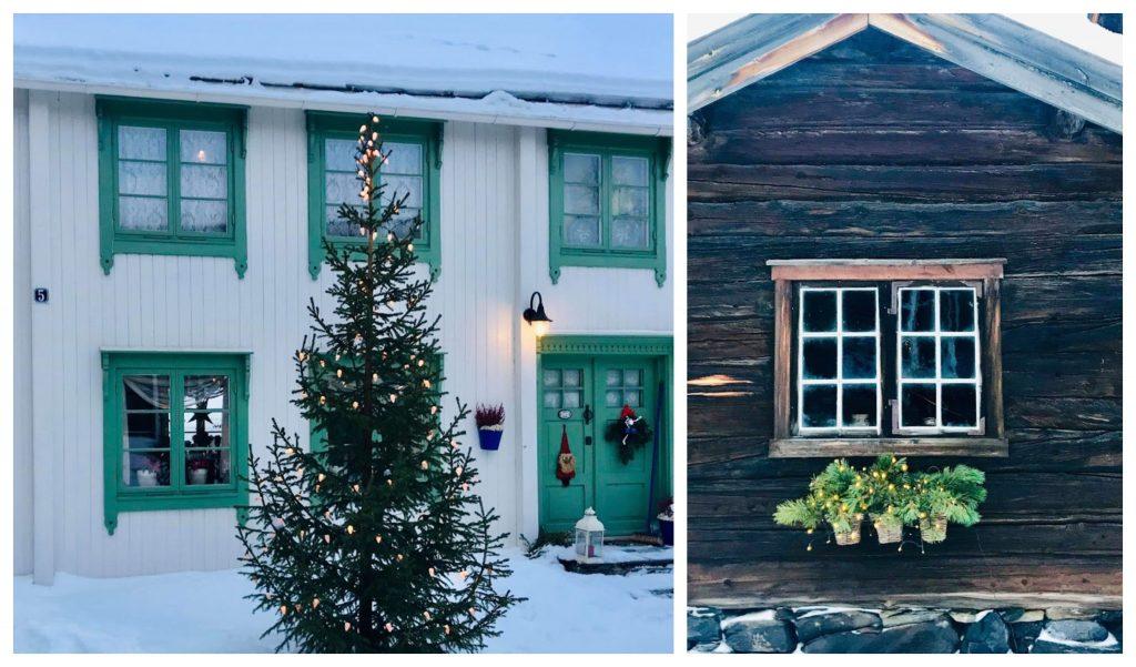 Reisen til Røros - en juledrøm blir virkelig - vakre bygninger på vei fra kirken til hotellet