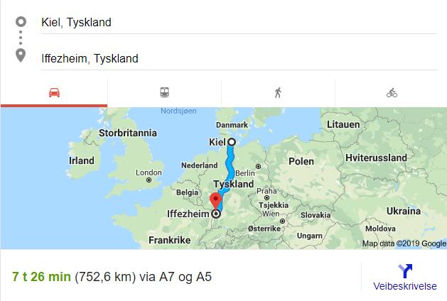 Bilferie fra Norge til Sør-Frankrike - Google kart er min venn