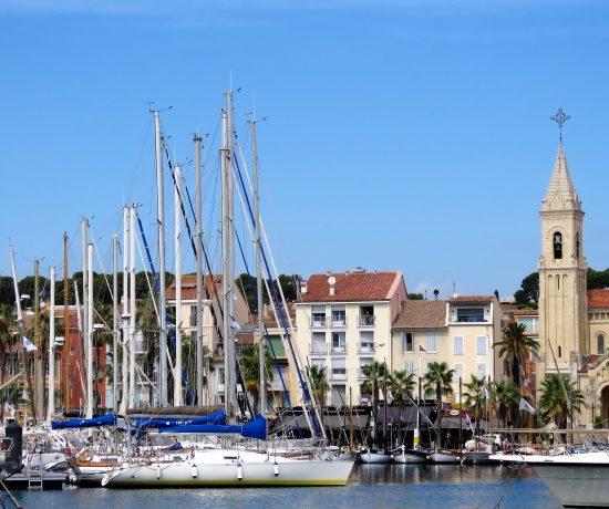 Tips til bilferie fra Norge til Sør-Frankrike - Havna i Sanary-sur-mer i Provence