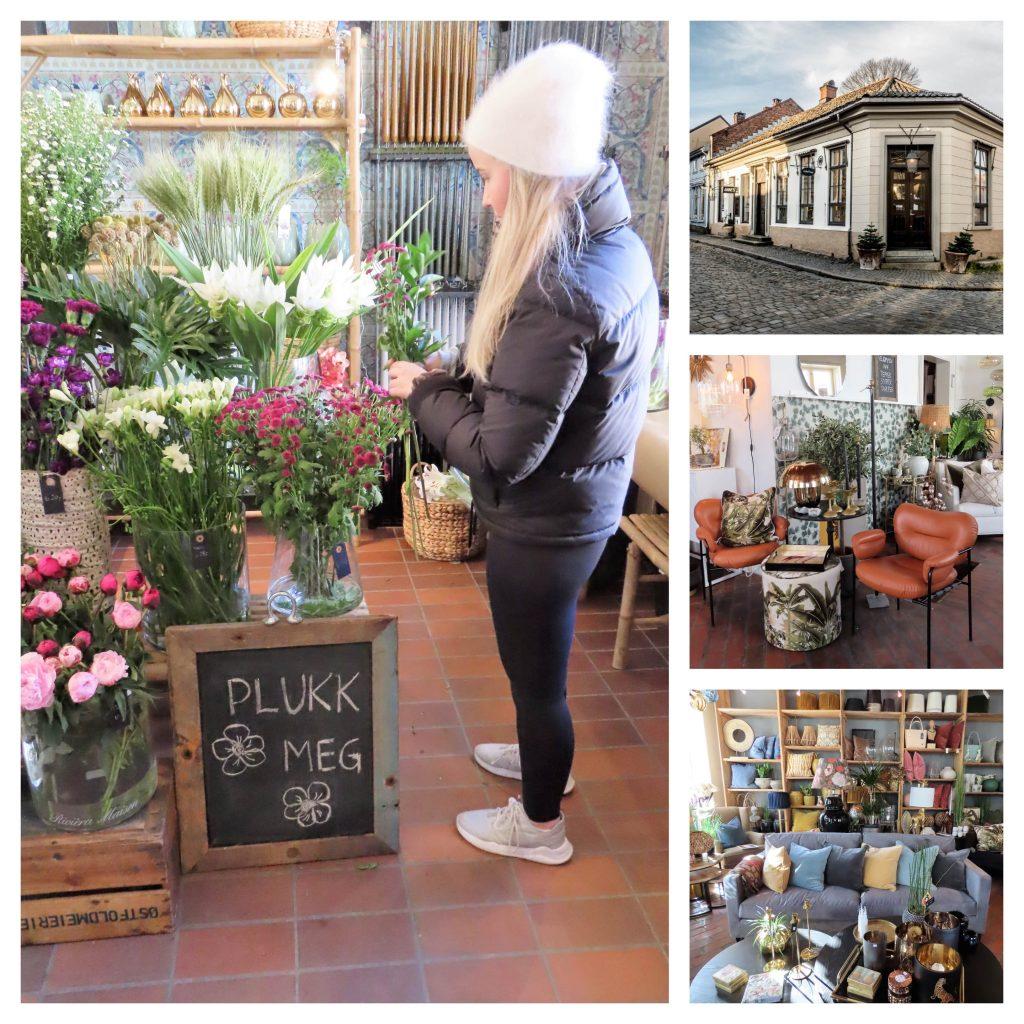 Den historiske perlen - Gamlebyen Hotell - Kollasj fra interiørbutikken Galleri Mimosa
