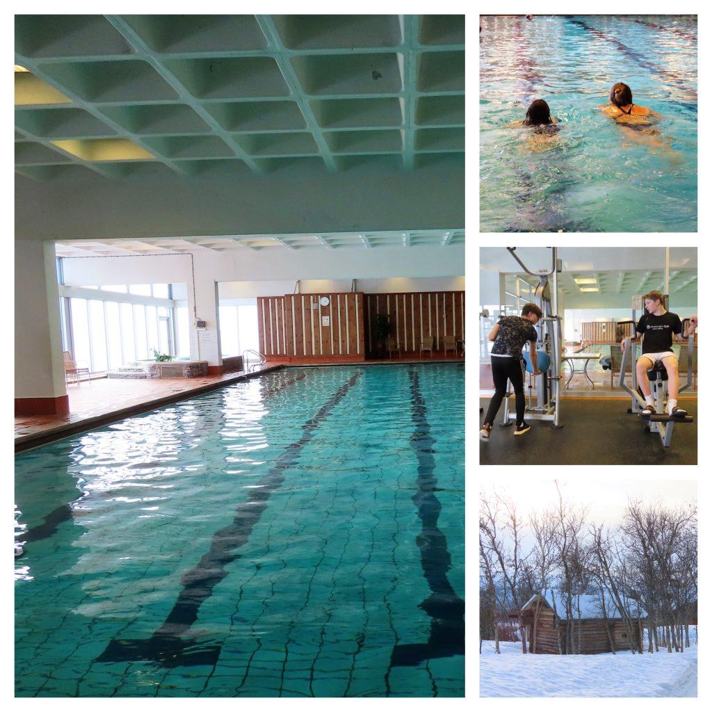 Ikke født med ski på beina - Beitostølen, Svømmehall, treningsstudio