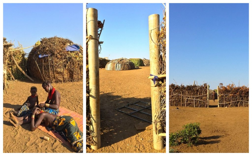Rystende og tankevekkende besøk hos stammefolk i Etiopia - Daasanach landsbyen innenfor en innhengning laget av stokker og kvister