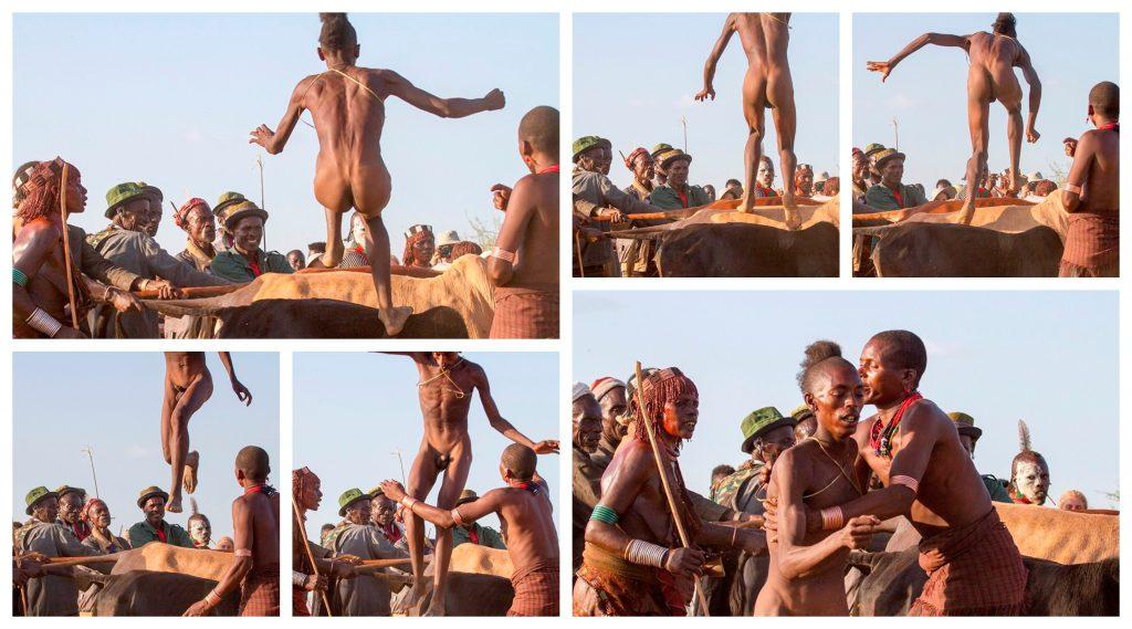 Rystende og tankevekkende besøk hos stammefolk i Etiopia - Kollasj av oksehoppingen