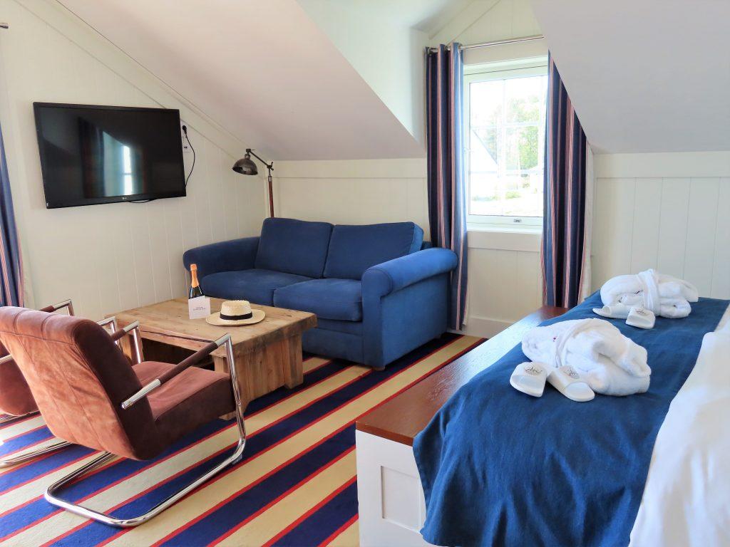 Støtvig Hotel i Hampton-stil og med utsikt mot evigheten - Deler av suiten