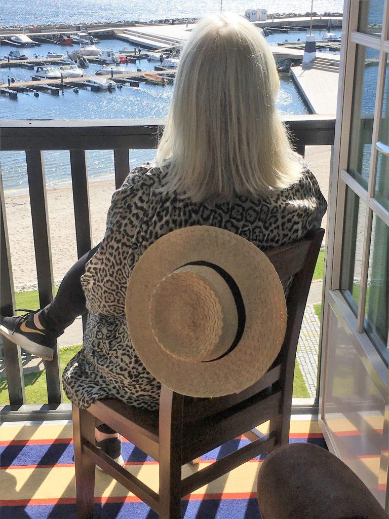Støtvig Hotel i Hampton-stil og med utsikt mot evigheten - Her nytes utsikten fra suiten vår
