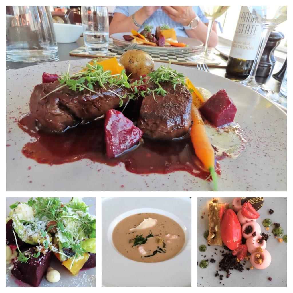 Støtvig Hotel i Hampton-stil og med utsikt mot evigheten - Middagen er servert - kollasj