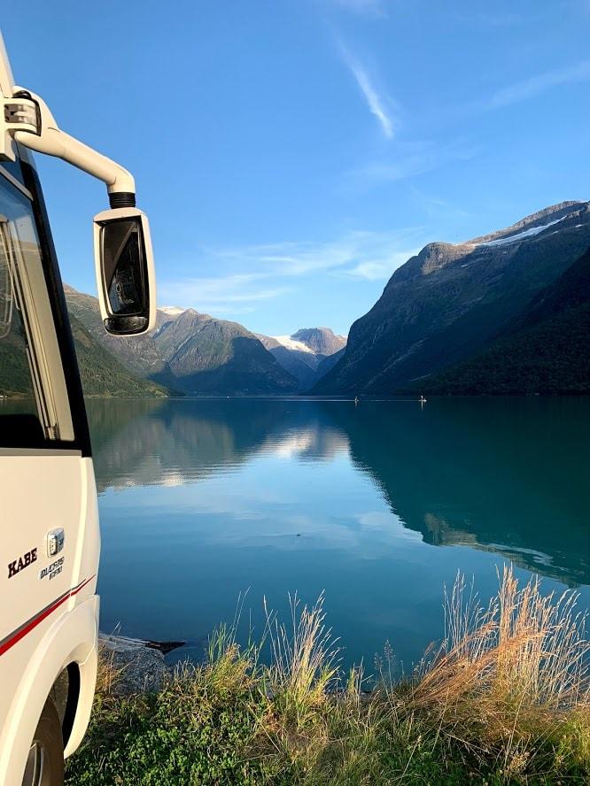 Sande camping i Loen kunne by på den beste plassen for Hjalmar-bobil IMG_2234-min