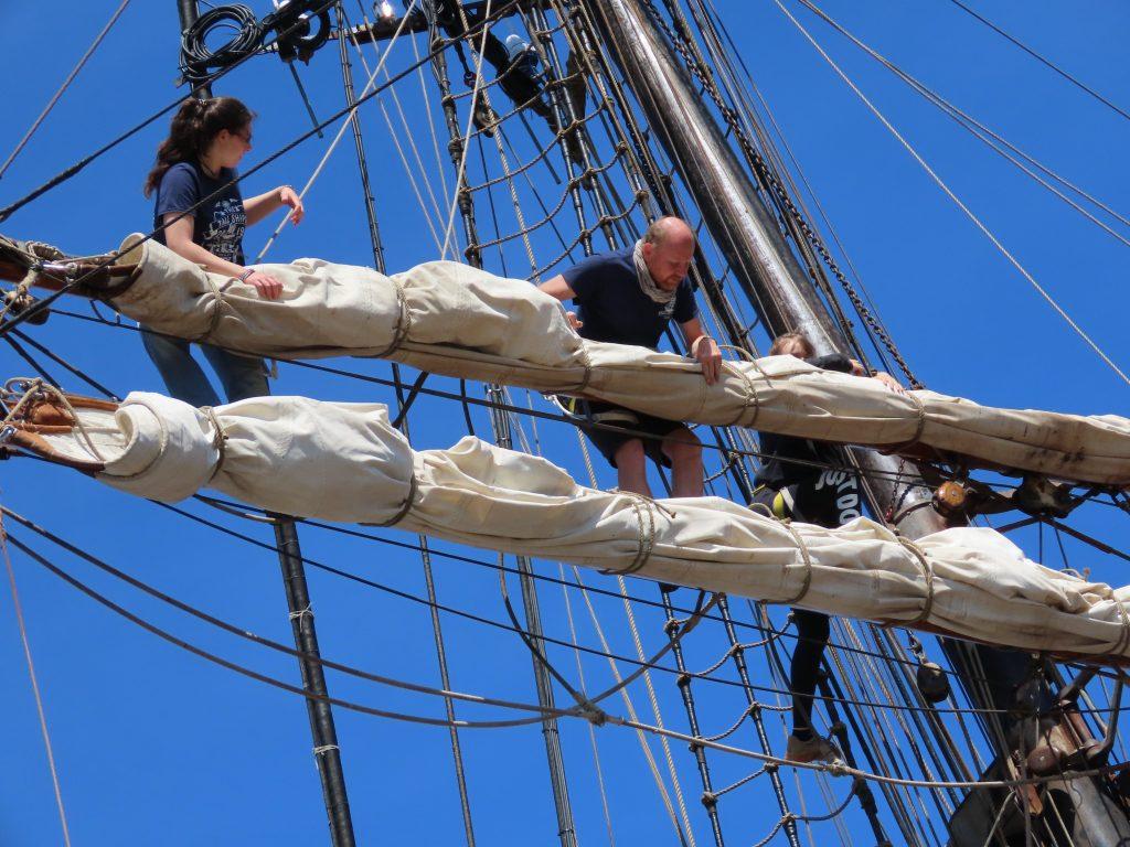 Stadig noe som må ordnes oppe i riggene - Tall Ships Races IMG_2677